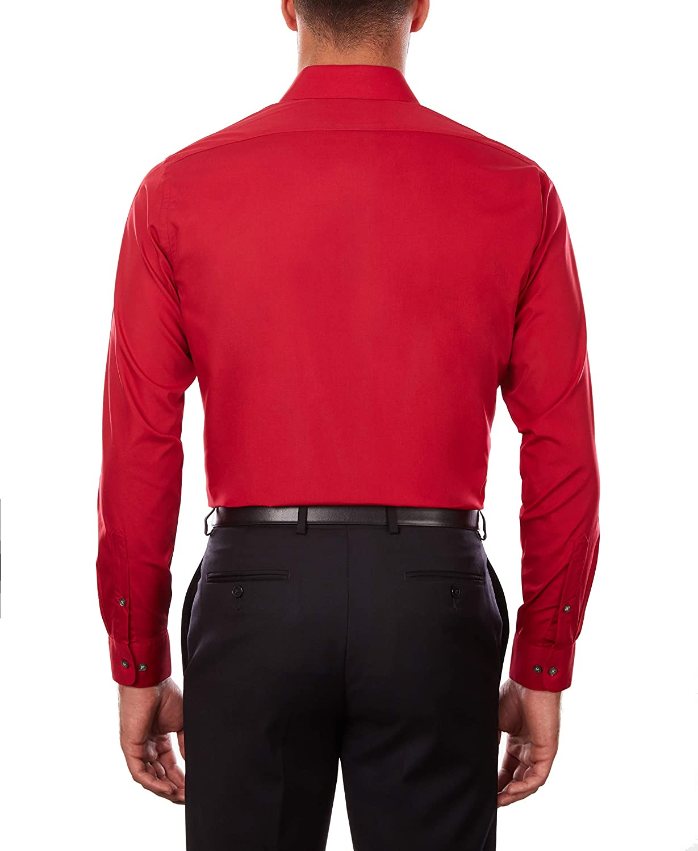 Van Heusen Men's Big Dress Shirt Tall Fit Poplin Flame