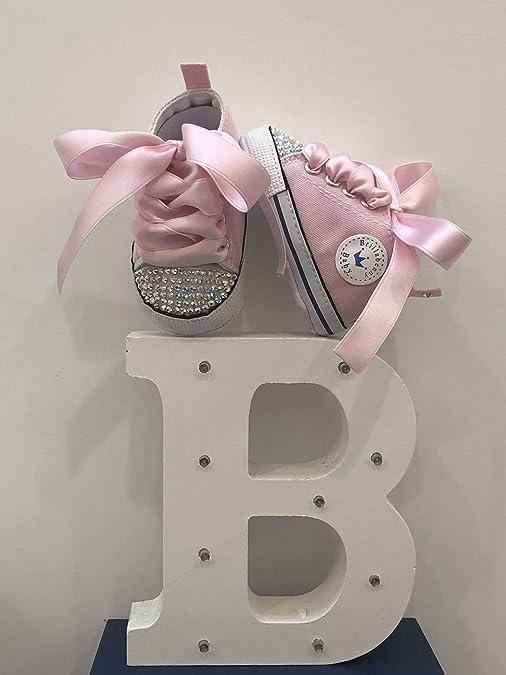 771e3a2c9fea2 BrillaBenny Scarpine Scarpe Sneakers Strass Bimba Neonato Bambina Rosa Baby  Shoes Pink Birthday Party Events Princess Rhinestone Crystal Diamond Bling  ...
