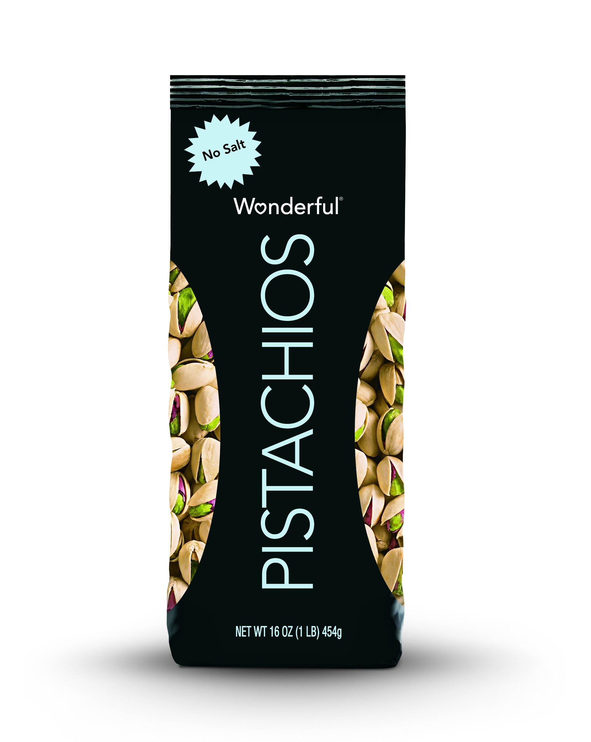 Wonderful Pistachios, Roasted with No Salt, 16 Ounce Bag by Wonderful Pistachios & Almonds