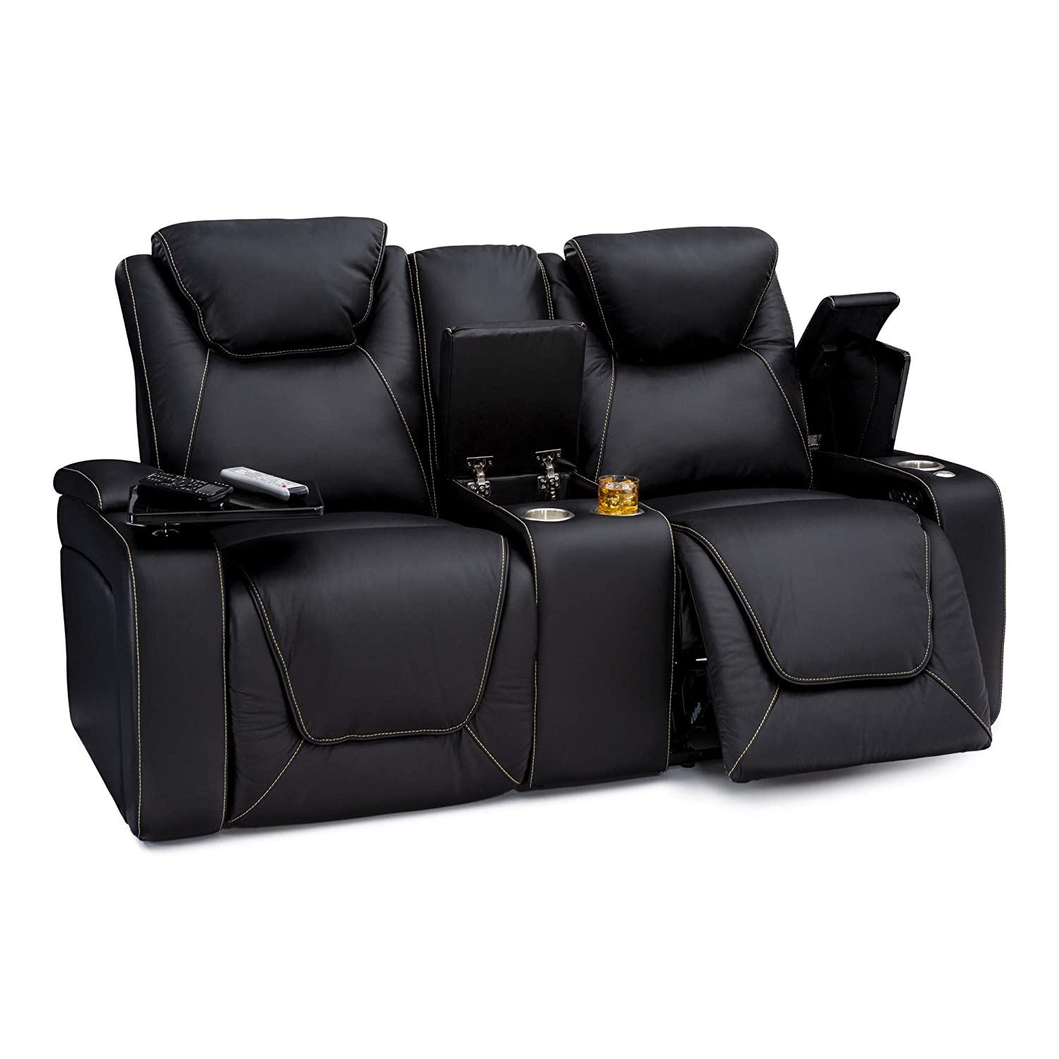 Seatcraft Vienna Home Theater Seating Leather Sofa Recline
