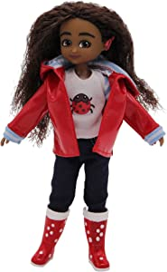 Lottie Doll Wildlife Photographer Doll Mia | Dolls for Girls and Boys | 7 Inch Doll with Brown, Wavy Hair, Brown Eyes & Cochlear Implant