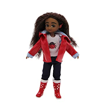 46113b38fab Lottie Doll Wildlife Photographer Mia - Doll with Cochlear Implant - Brown,  Wavy Hair, Brown Eyes and Cochlear Implant