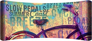 "product image for Next Innovations 48"" X 19"" Hd Curved Wall Art Beach Bicycle Home Decor"