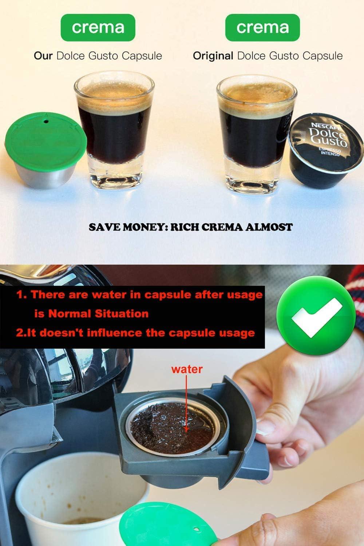 i Cafilas Dolce Gusto Cápsula de Café Reutilizable Recargable ...