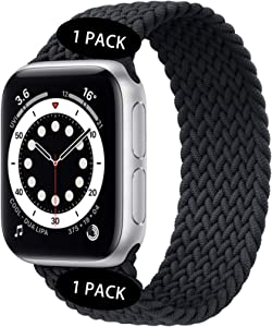 Watchbands Compatible for Apple Watch SE Series 6 Bands 40mm 44mm Woven Solo Loop Braided Strap iwatch Compatible with 5/4/3/2/1 38mm 42mm