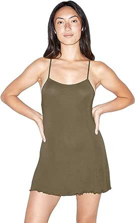 American Apparel Women's Mix Modal Sleeveless Crossback Slip Dress