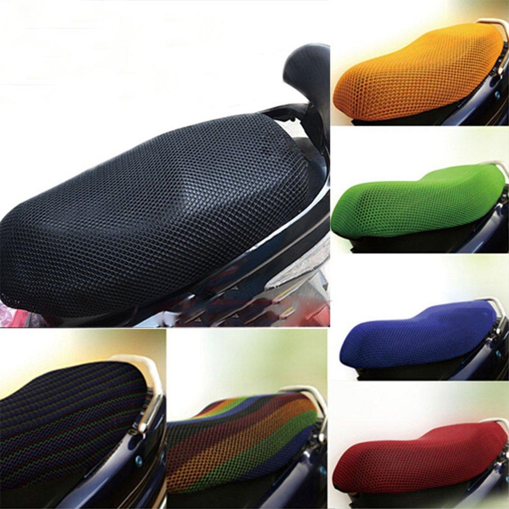 resistente para scooter Behavetw Funda protectora para asiento de motocicleta tejido de malla 3D antideslizante transpirable