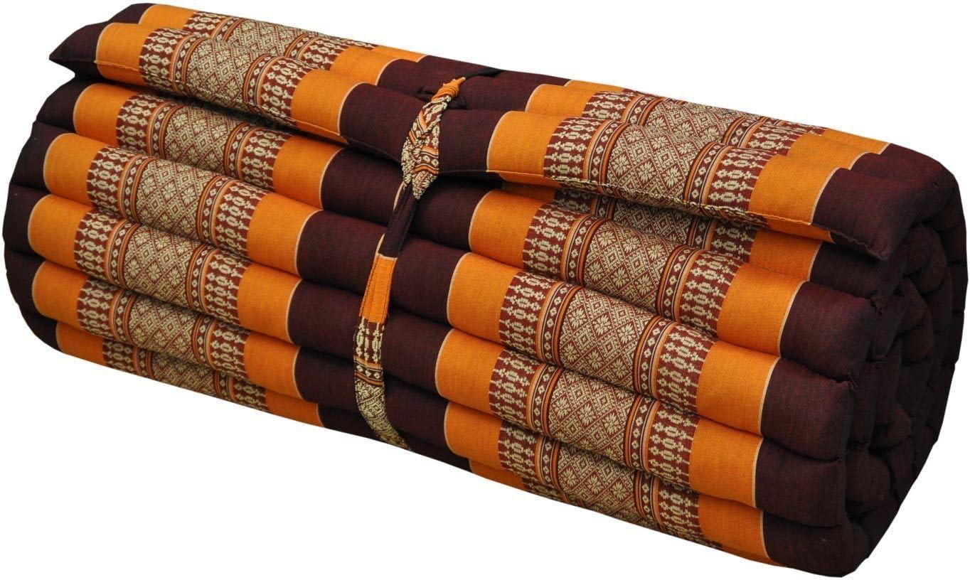 Jumbo Size Kapok100/% Thai Pillow Fold Out Mattress Floor Cushion Day Bed 3 Fold