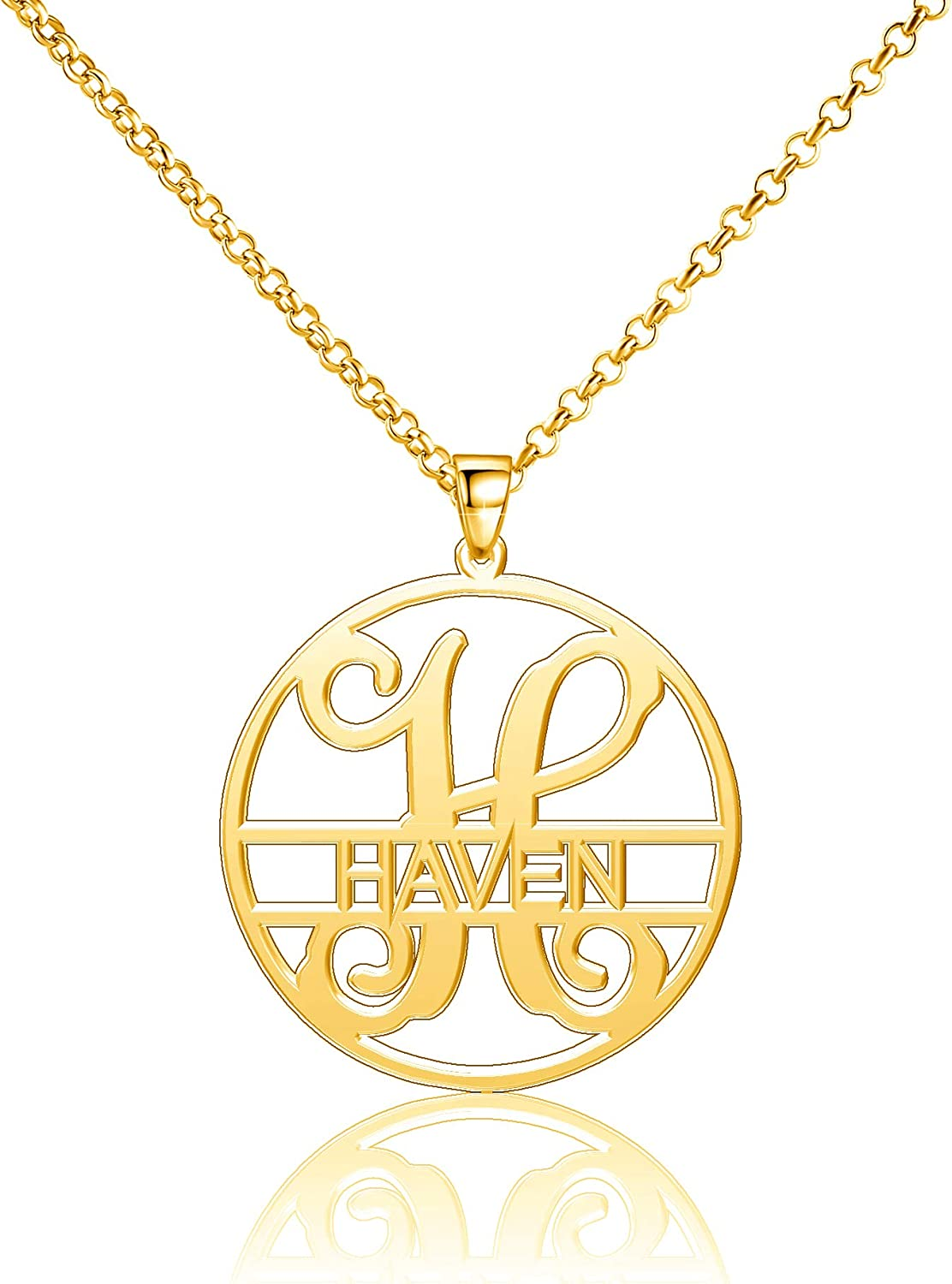 Haven Necklace Personalized Name Custom Monogram Letters