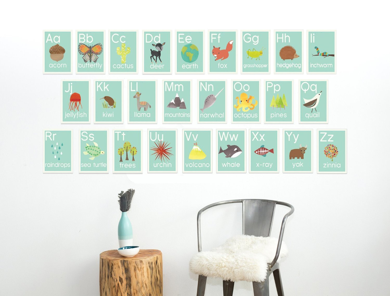 Woodland number counting wall cards in for 5x7 room design