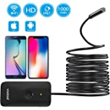 Wireless Endoscope, Vodool 2.0 Megapixels HD Wi-Fi Borescope, IP67 Waterproof 1000mAh Vent Plumber Inspection Camera for Android & iOS Smartphone Tablet PC iPhone iPad (11.8FT)