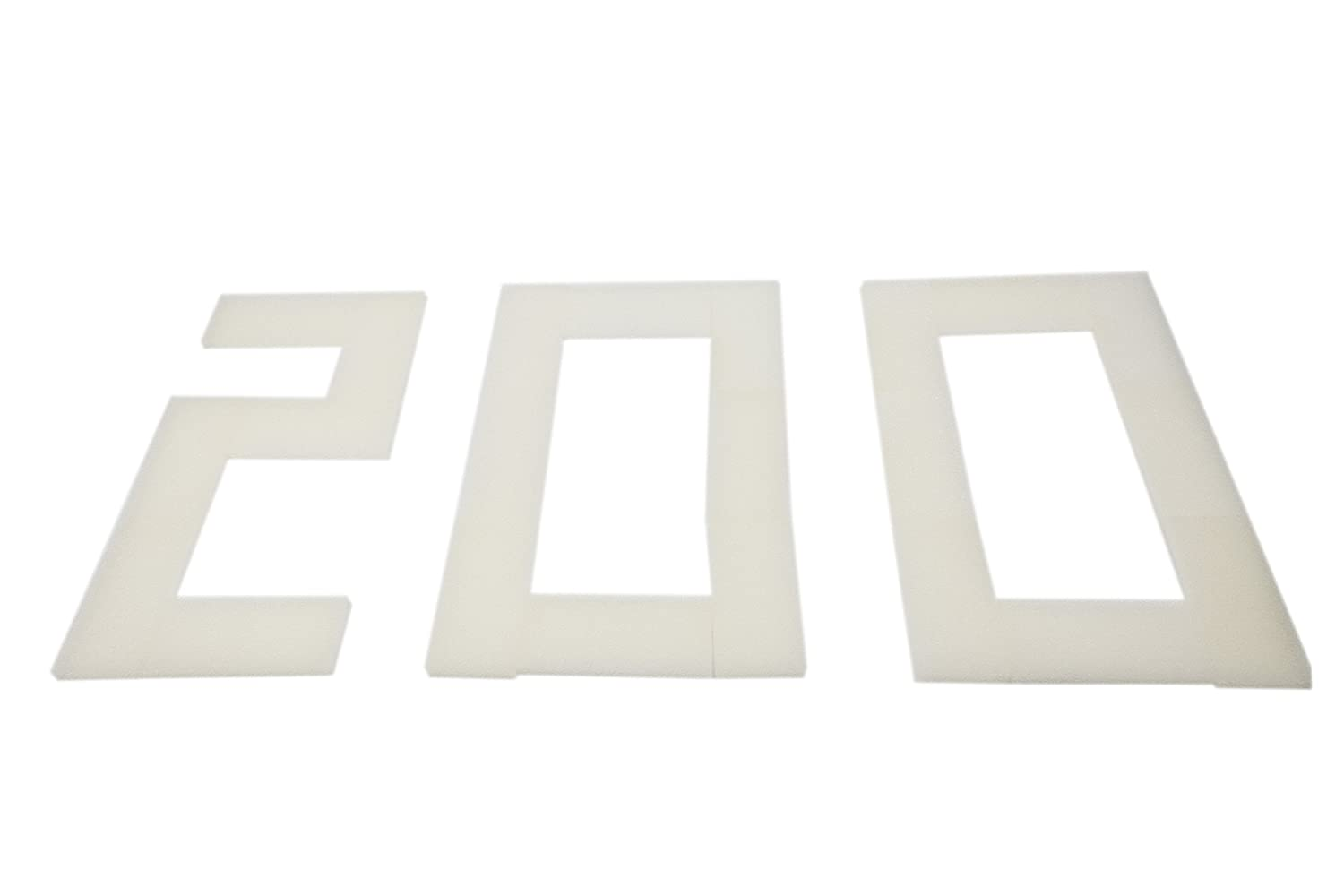 Pack of 200 LTWHOME Compatible Foam Filters Non-Branded But Suitable for Fluval U2 Filter (Pack of 200)