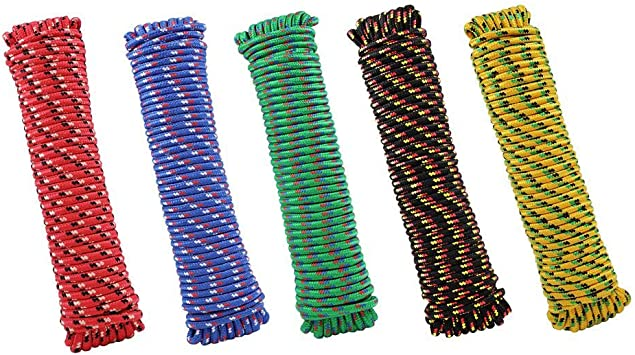 3//8 In Dia X 100 Ft L Crawford-Lehigh MFP8100 Lehigh Diamond Braided Rope 244 Lb 100 Multicolor 244 Lb 100/' Multicolor
