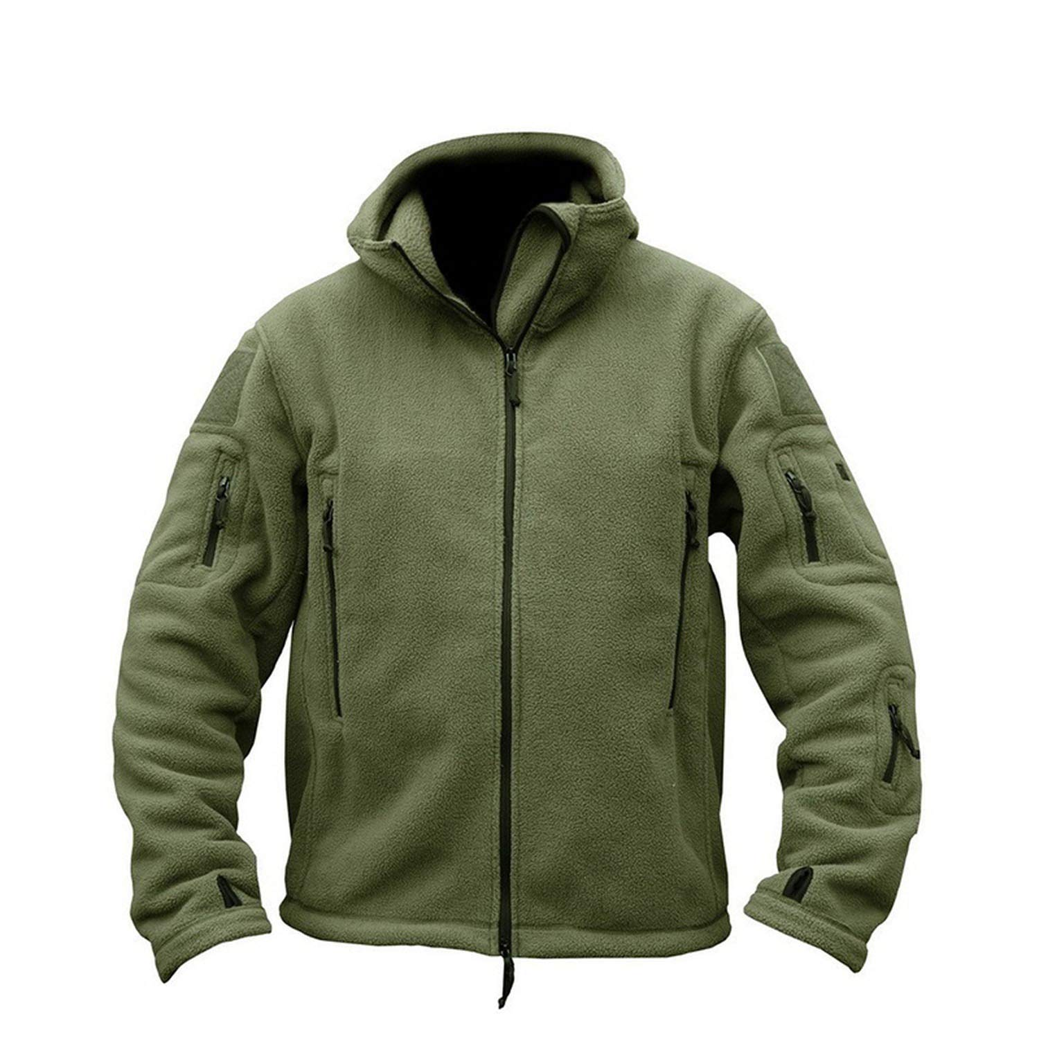 3XL Military Fleece Jacket Warm Men Navy Thermal Hooded Jacket Coat Clothes e0ea5e23a