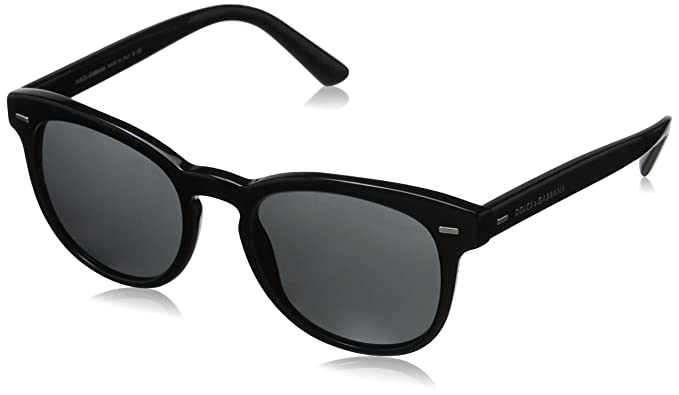 7caab27cc04a Amazon.com  D G Dolce   Gabbana Men s 0DG4254 Round Sunglasses ...