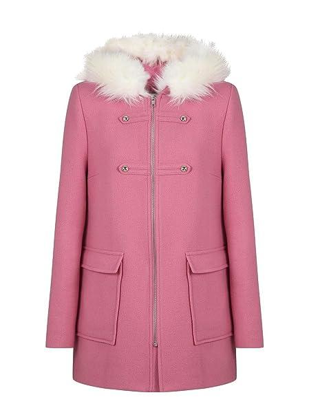 venta profesional venta más barata brillante en brillo Naf Naf Women's Coat - Pink - UK 8: Amazon.co.uk: Clothing