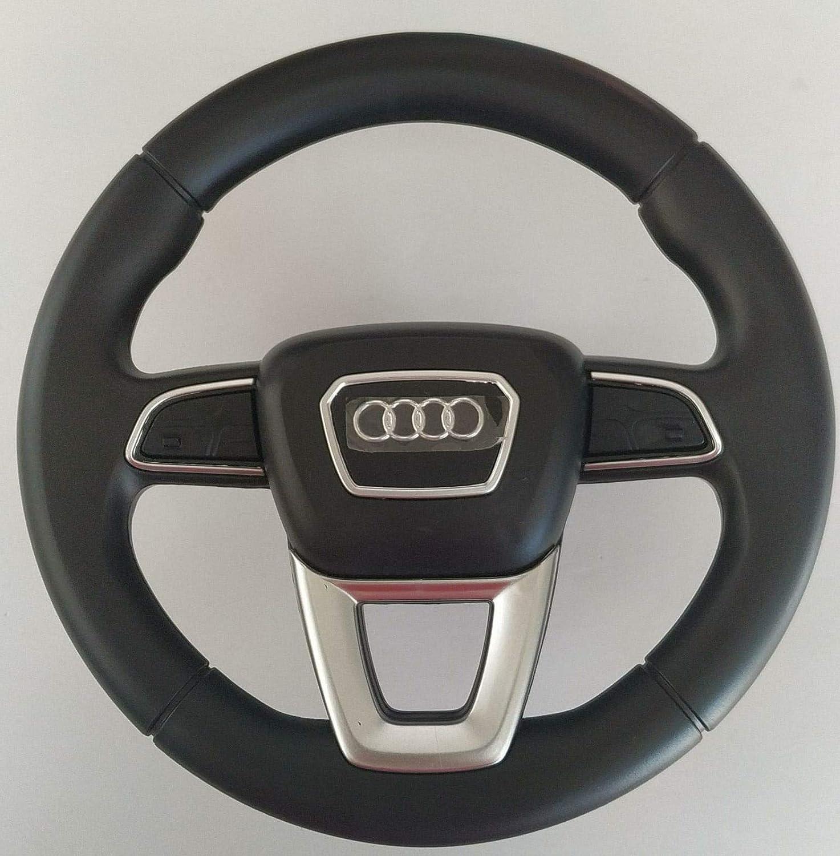 Indalchess Volant DE Direction pour Enfants DE Voitures /ÉLECTRIQUES 12V pour Audi Q7 Bas