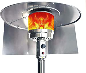Patio Heater Reflector Shield,Outdoor heaters for Patio Propane and Natural Gas.