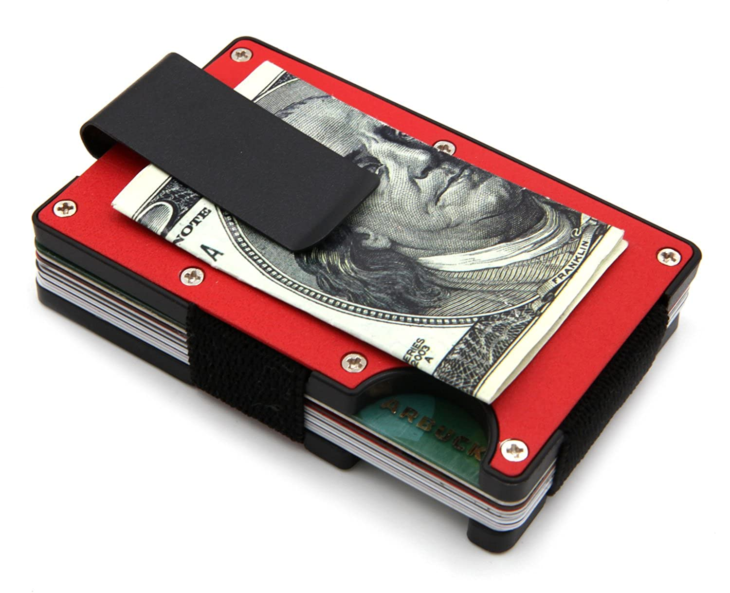 Minimalist Slim Wallet - RFID BLOCKING Money Clip