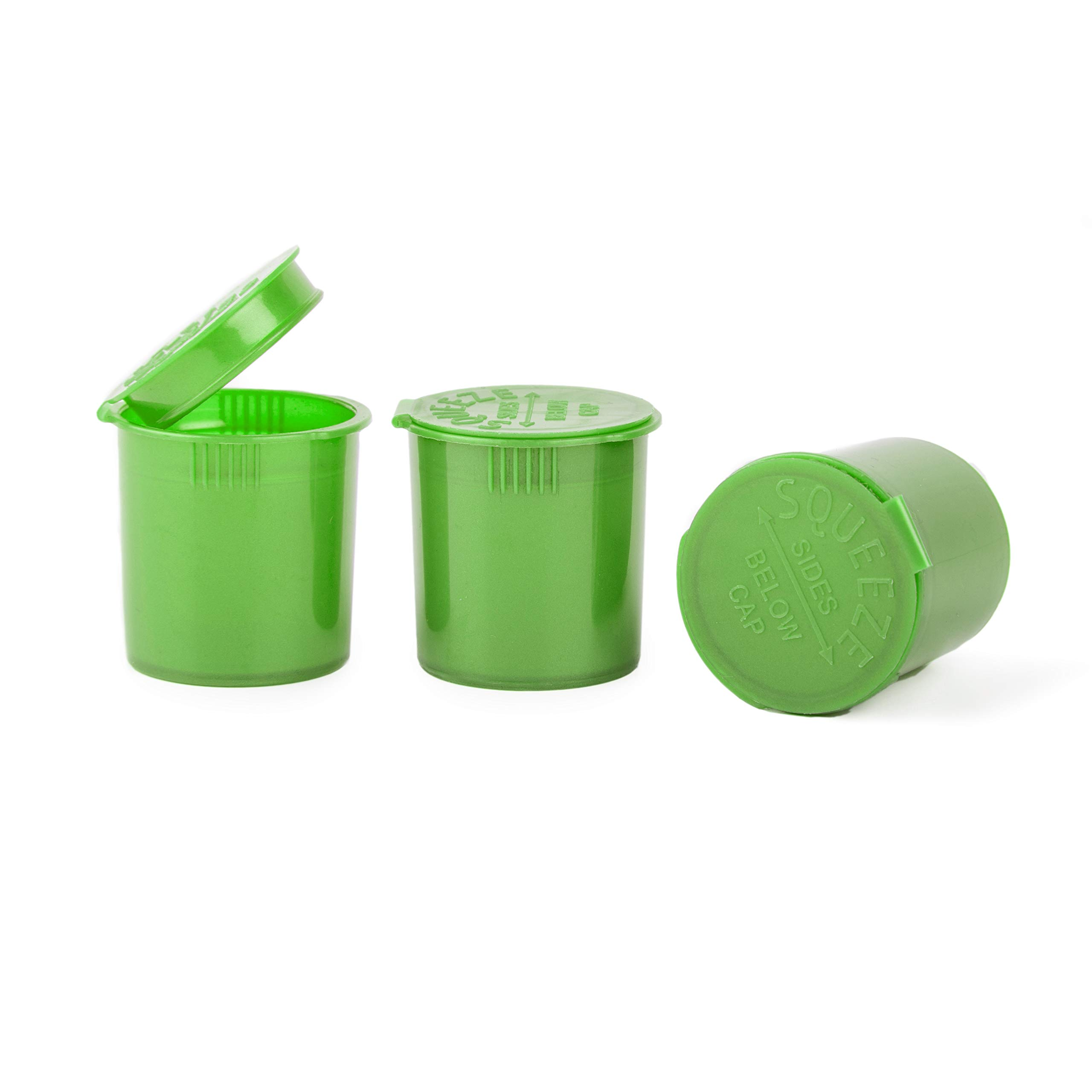 Loud Lock - Pop Top Vial Container Bottles - 6 Dram Size - 600 Count Case (Green) by Loud Lock