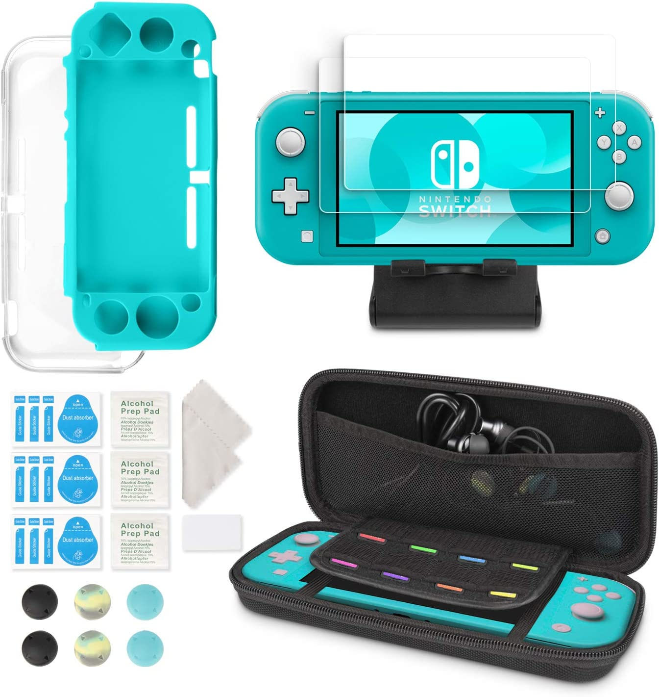 Kit 6 en 1 de Accesorios para Nintendo Switch Lite: Amazon.es: Electrónica