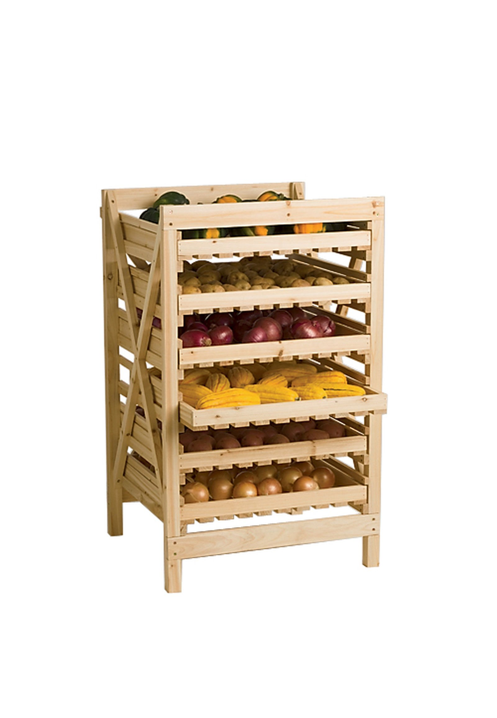 Orchard Rack, Garden Harvest Rack, 6 Drawer