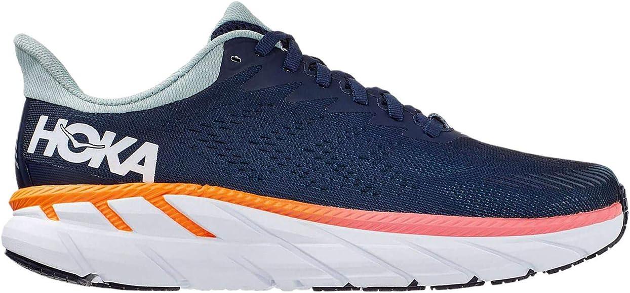 Hoka Clifton 07 Zapatilla para Correr en Carretera o Camino de Tierra Ligero con Soporte Neutral para Mujer Azul Naranja: Amazon.es: Zapatos y complementos