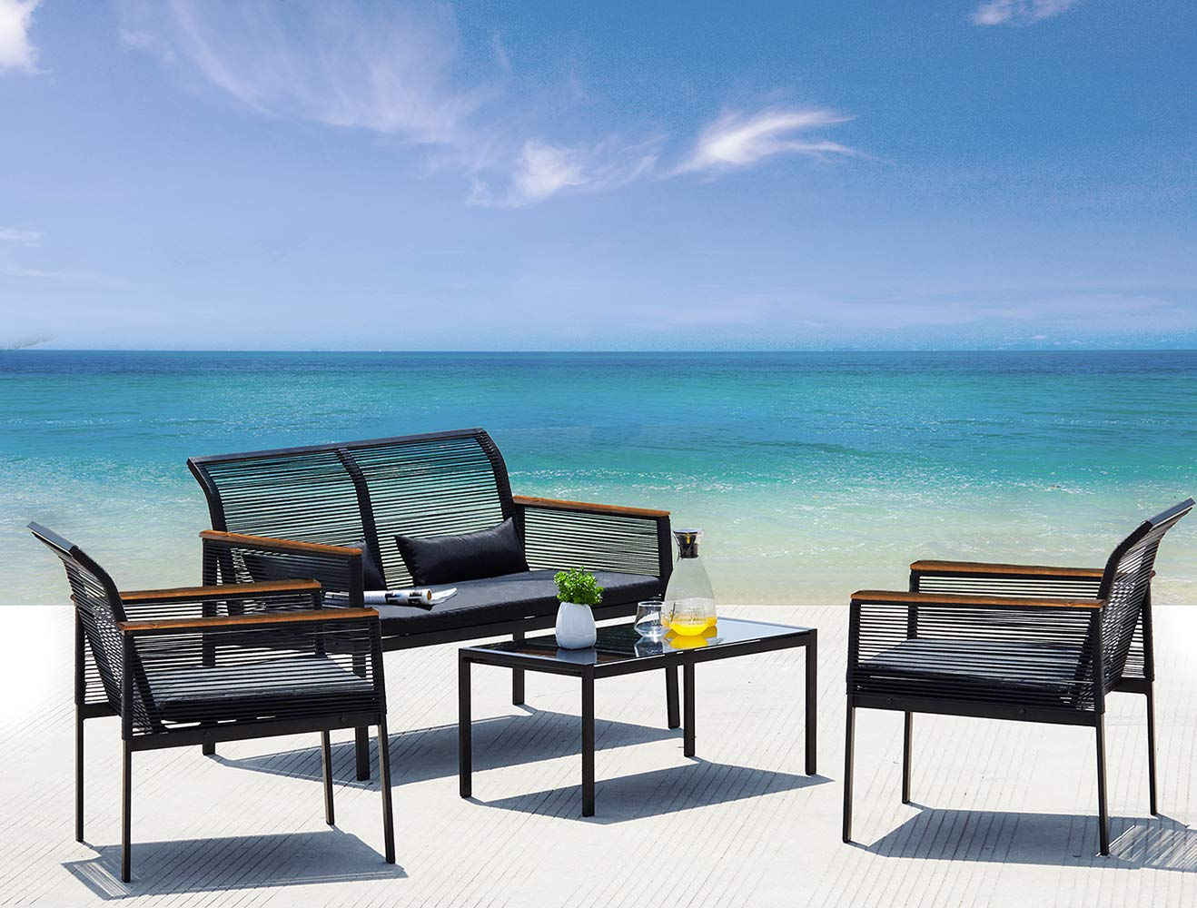 Suntone Patio Furniture Sofa Set