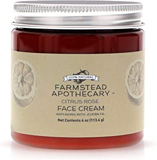 product image for Farmstead Apothecary 100% Natural Anti-Aging Face Cream with Jojoba Oil, 4 oz (Citrus Rose)