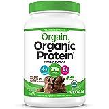 Orgain Organic Plant Based Protein Powder, Creamy Chocolate Fudge - Vegan, Low Net Carbs, Non Dairy, Gluten Free, No Sugar Ad