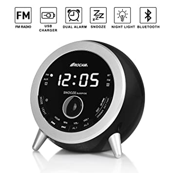 ROCAM Radio despertador digital Bluetooth con radio FM ...