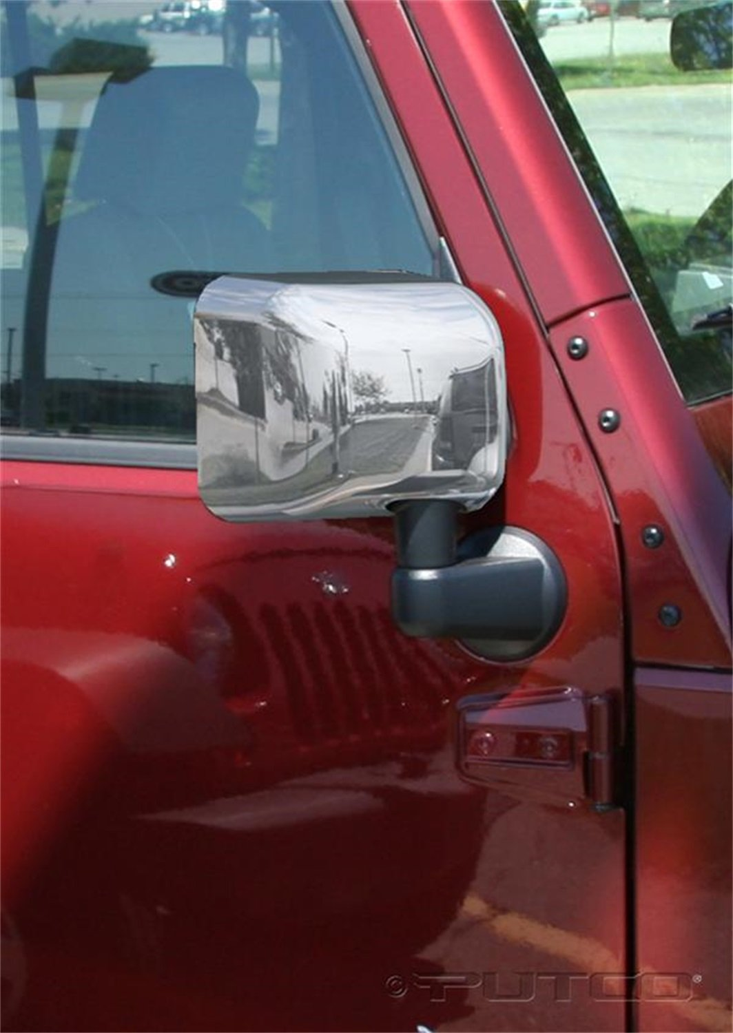 Putco 400121 Chrome Mirror Overlay for Select Jeep Models