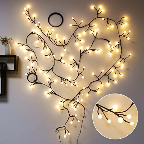 Amazon.com : Decorative Lights, TOFU 8ft 72 LED Indoor&Outdoor 8 ...