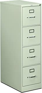 product image for HON 4-Drawer Letter File - Full-Suspension Filing Cabinet with Lock, 52 by 25-Inch Light Gray (H514)