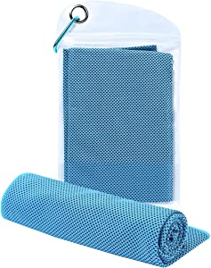 Cooling Towel Sport Towels Microfiber Towel Fast Drying - Super Absorbent - Ultra Compact Cooling Towel for Sports, Workout, Fitness, Gym, Yoga, Pilates, Travel, Camping & More