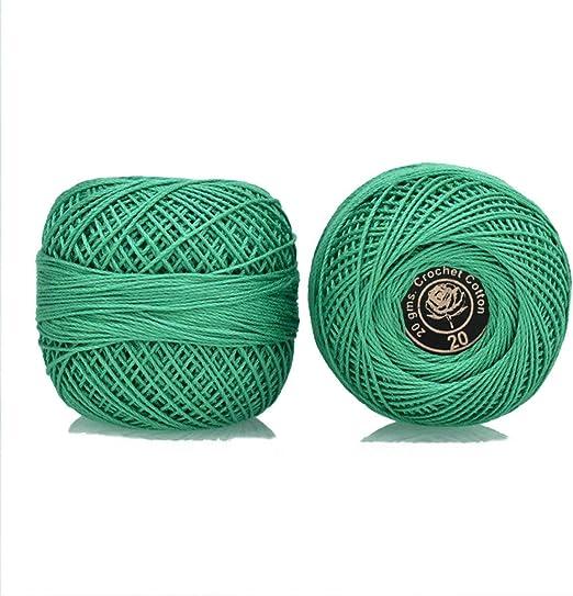Hilo de algodón de ganchillo tamaño 20 para tejer, tejer y bordar ...