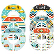 Mumsy Goose Baby Boy Clothes Dividers Nursery Closet Dividers Cars and Trucks