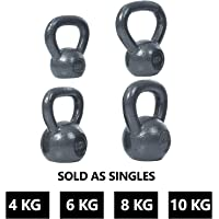 FITSY® Solid Cast Iron Kettlebell Dumbells (Imported)