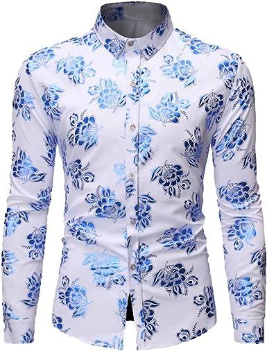 Dtuta - Camisa para Hombre de Cuadros para Hombre, Color ...