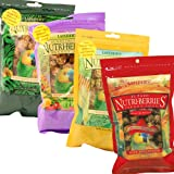 Gourmet Nutriberries Complete Parrot Food - 4 Flavours - Sunny Orchard - El Paso - Garden Veggie - Tropical Fruit | Macaw | African Grey | Amazon | Cockatoo | Senegal | Caiques | Bird food Pack of 4