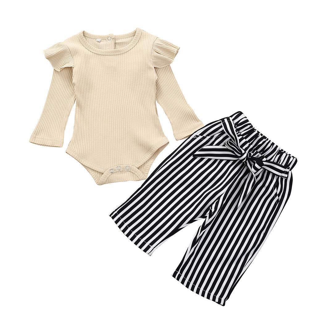 UK Newborn Toddler Baby Girls Leopard print Clothes Romper Jumpsuit 2PCS Outfits