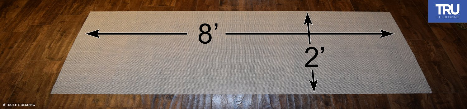 TRU Lite Rug Gripper - Non-Slip Rug Pad for Hardwood Floors - Non Skid Washable Furniture Pad - Lock Area Rugs, Mats, Carpets, Furniture in Place - Trim to fit Any Size - 2' x 8' by TRU Lite Bedding (Image #4)