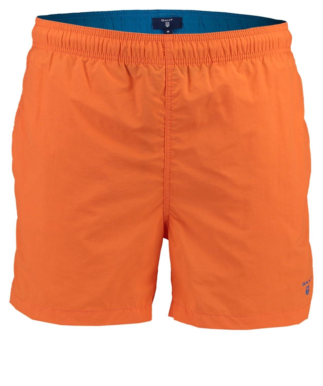 GANT Herren Badeshorts Mikrofaser Badehose Uni & Uninah, Größe  XXL, Farbe  Orange