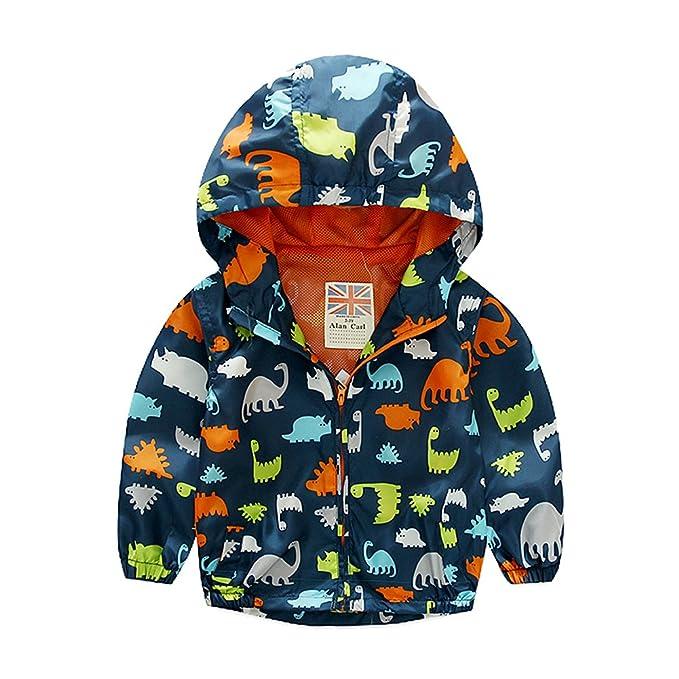 tortor 1bacha niños con capucha dinosaurio impreso chaqueta ...