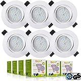Foco Empotrable, Bojim 6x GU10 LED Luz de Techo 6W equivalente a incandescente 54W Incluye