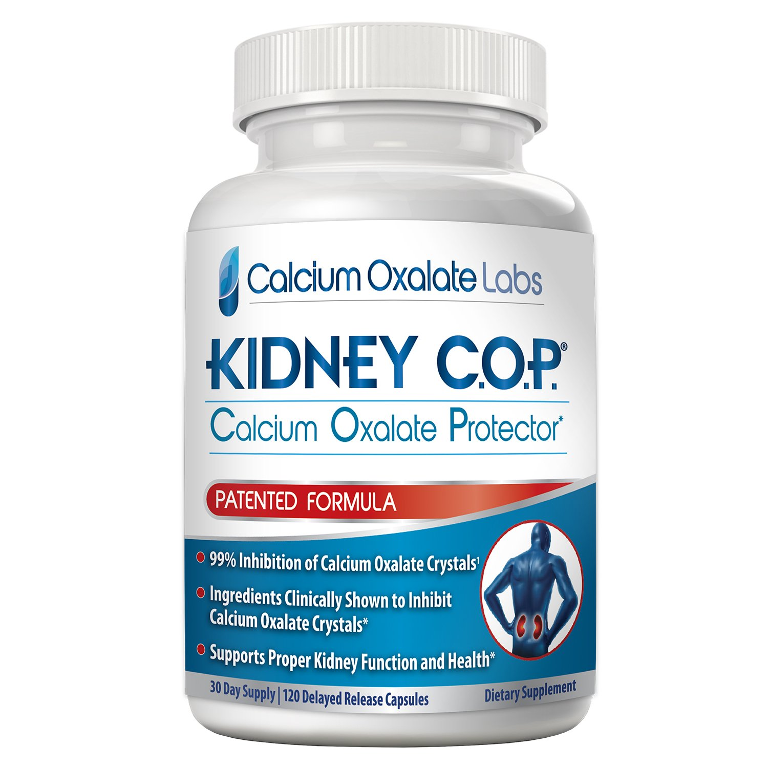 Kidney COP Calcium Oxalate Protector 120 Capsules, Patented Kidney Support for Calcium Oxalate Crystals, Helps Stops Recurrence of Stones, Stronger Than Chanca Piedra Stone Breaker & Crusher Products