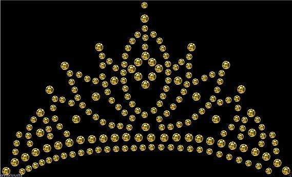 a3d34a6648 Iron-On Baby Pink Tiara Crown Rhinestone Diamante Transfer Hotfix Crystal  Motif Applique