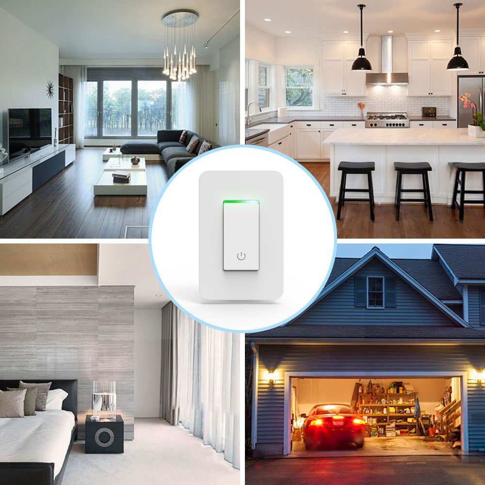 Smart Light Switch, Wi-Fi Switch Wireless Light Switch Compatible with Alexa and Google Home,No Hub Required,Timing Function,Control Your Fixtures From Anywhere (ON/Off Switch-1PCS) by LADUO (Image #4)