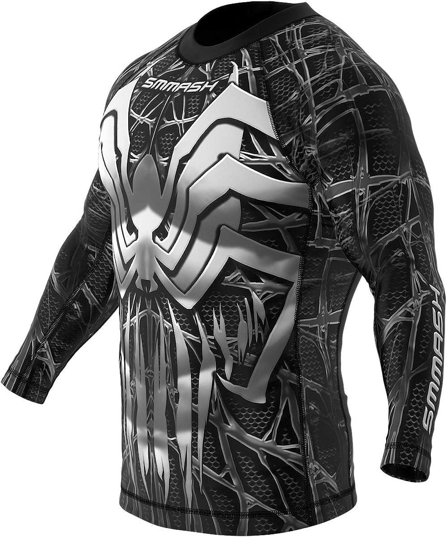 Compression Rashguard SMMASH Mens Longsleeve Shirt