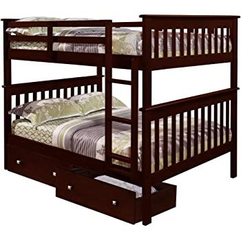 Amazon Com Donco Bunk Bed Full Over Full With Under Bed